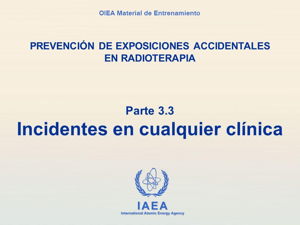 Parte 3.3 Incidentes en cualquier clínica