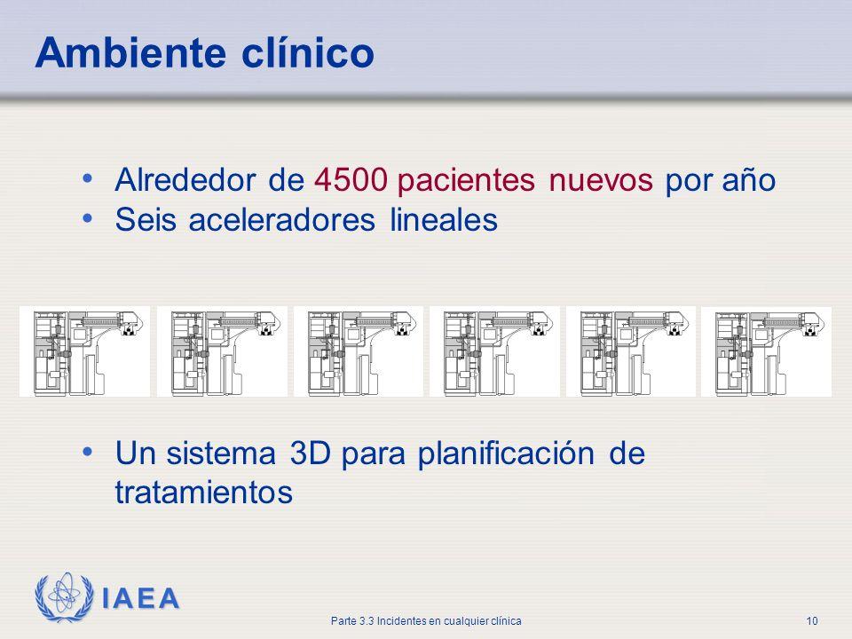Ambiente clínico Alrededor de 4500 pacientes nuevos por año