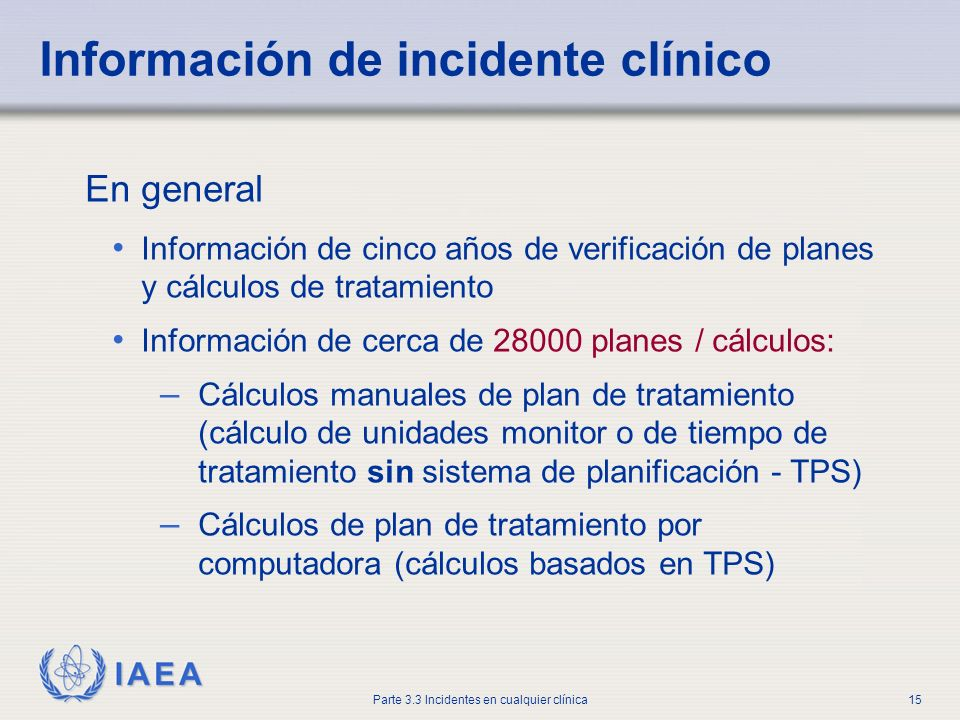 Información de incidente clínico