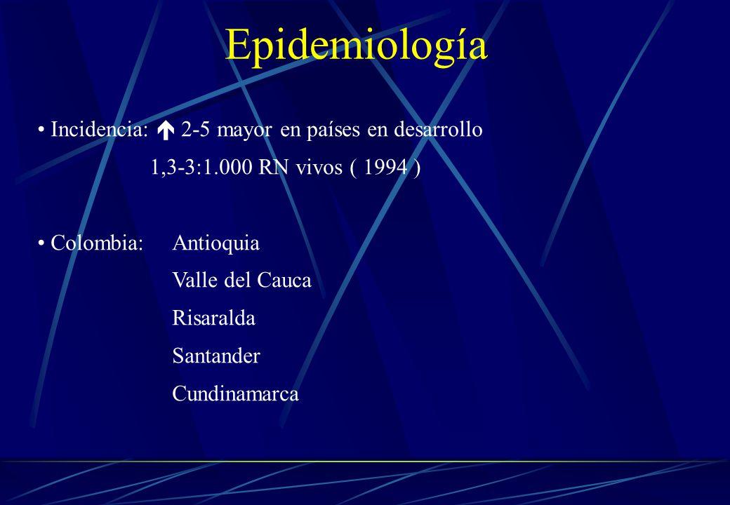 Epidemiología Incidencia:  2-5 mayor en países en desarrollo