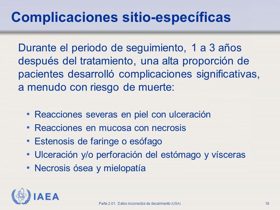 Complicaciones sitio-específicas