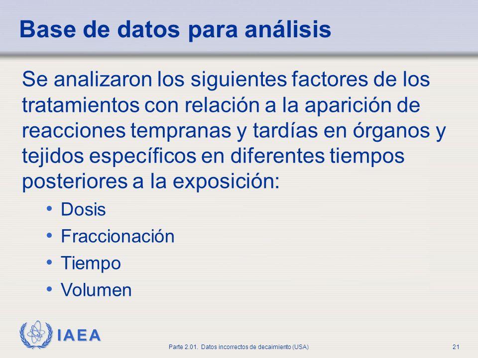 Base de datos para análisis