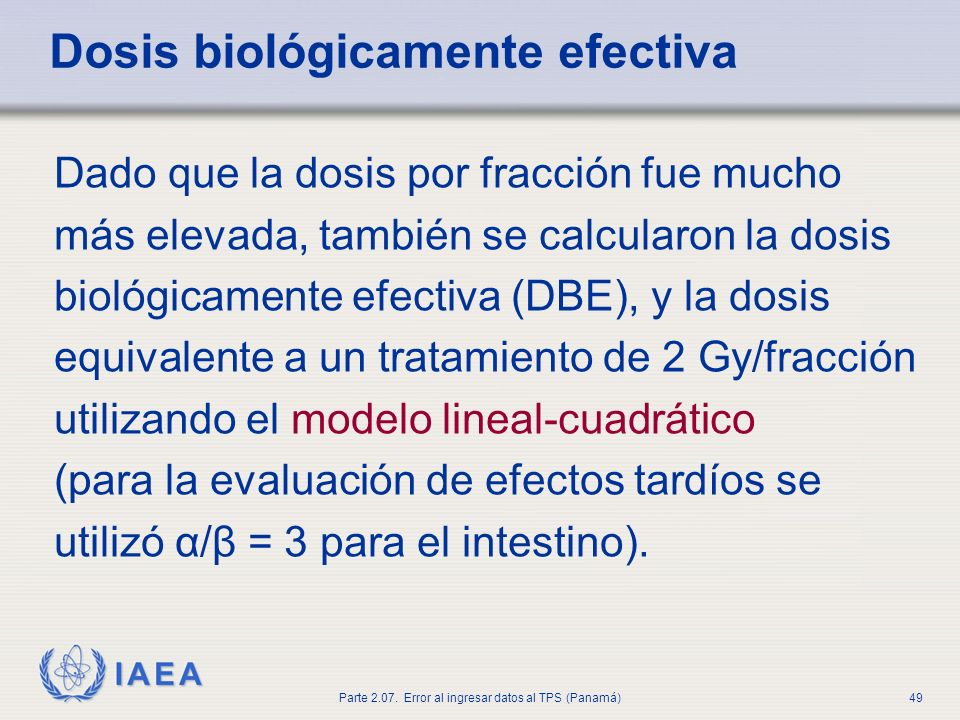 Dosis biológicamente efectiva