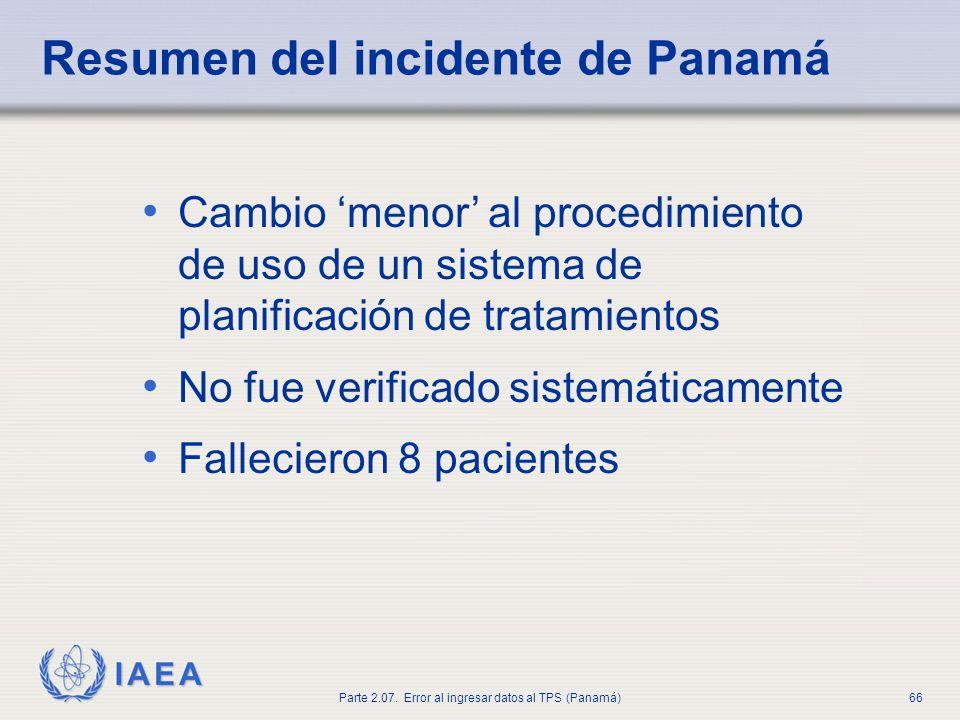 Resumen del incidente de Panamá