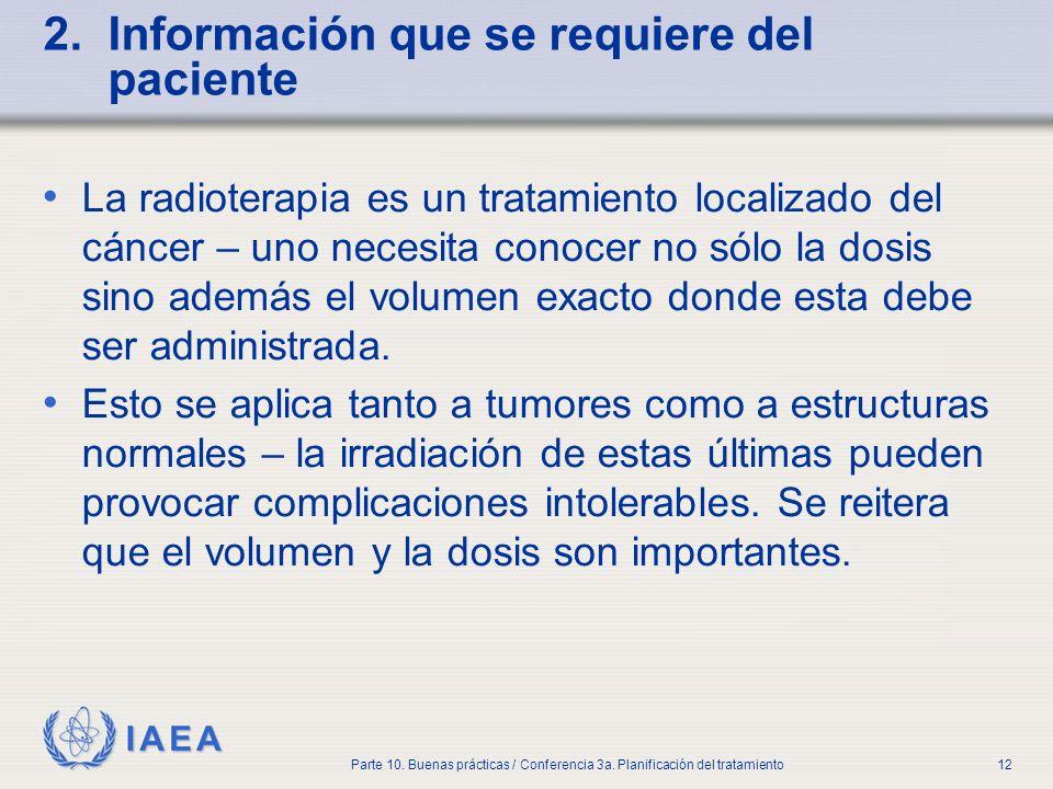 2. Información que se requiere del paciente