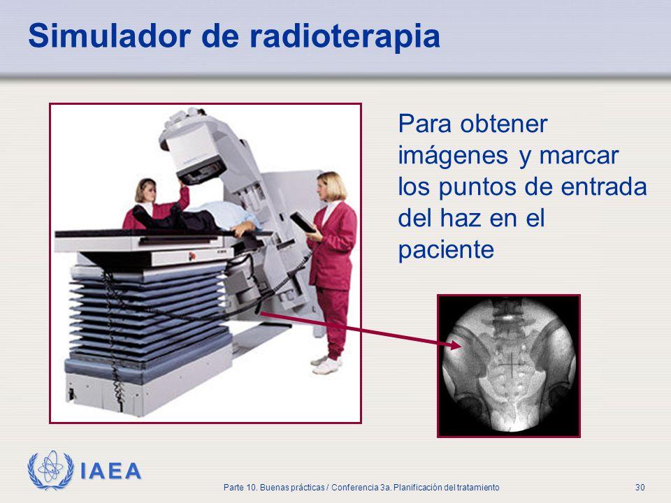 Simulador de radioterapia