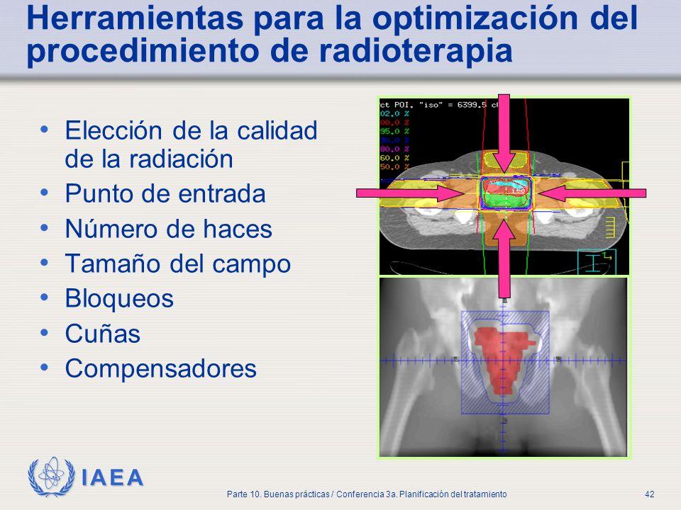 Herramientas para la optimización del procedimiento de radioterapia