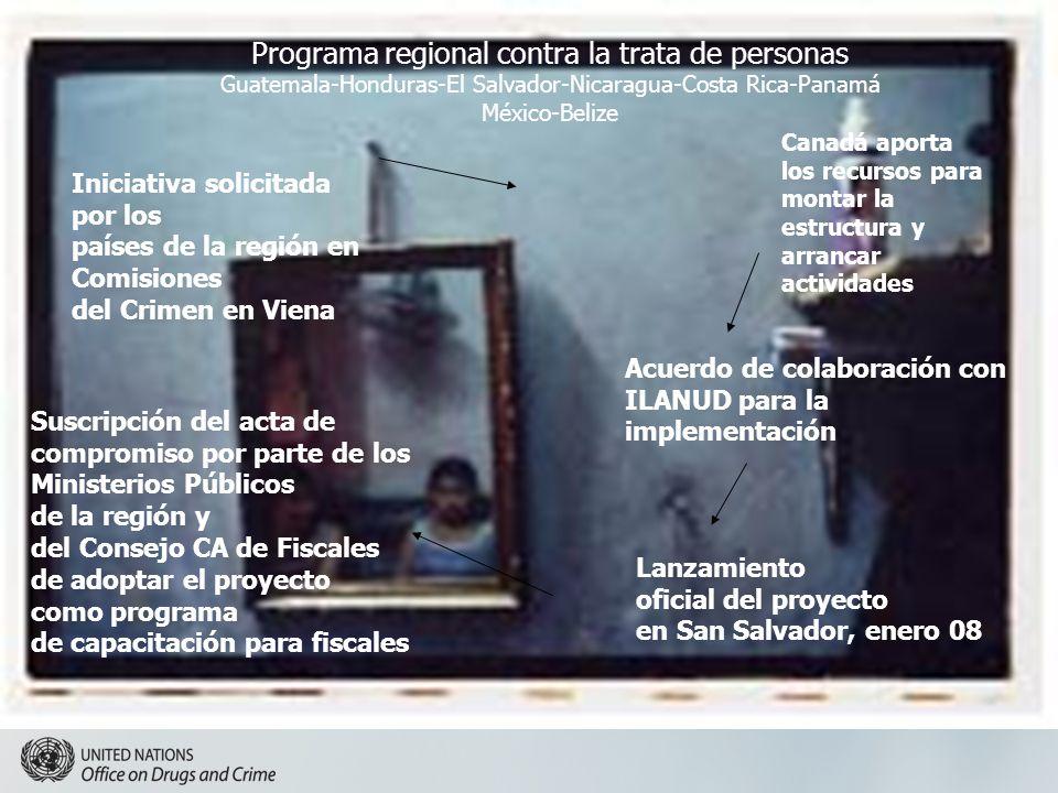 Programa regional contra la trata de personas