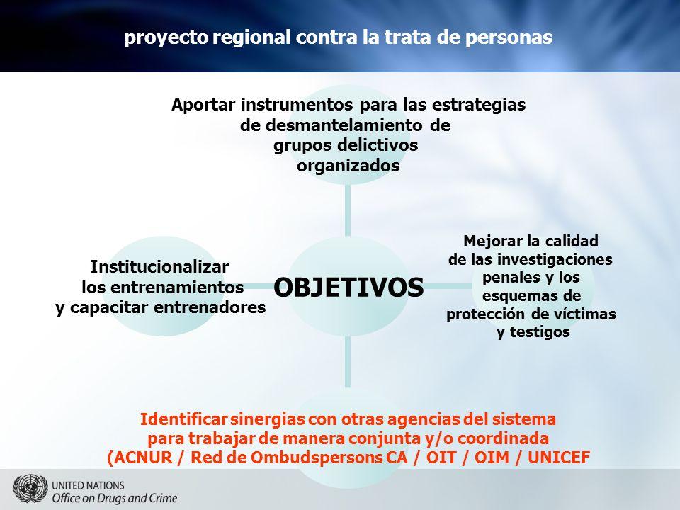 proyecto regional contra la trata de personas