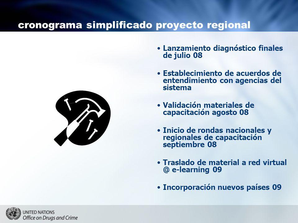 cronograma simplificado proyecto regional