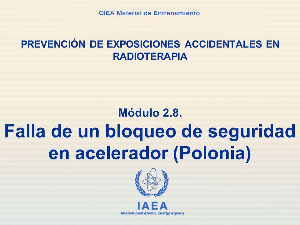 Módulo 2.8. Falla de un bloqueo de seguridad en acelerador (Polonia)