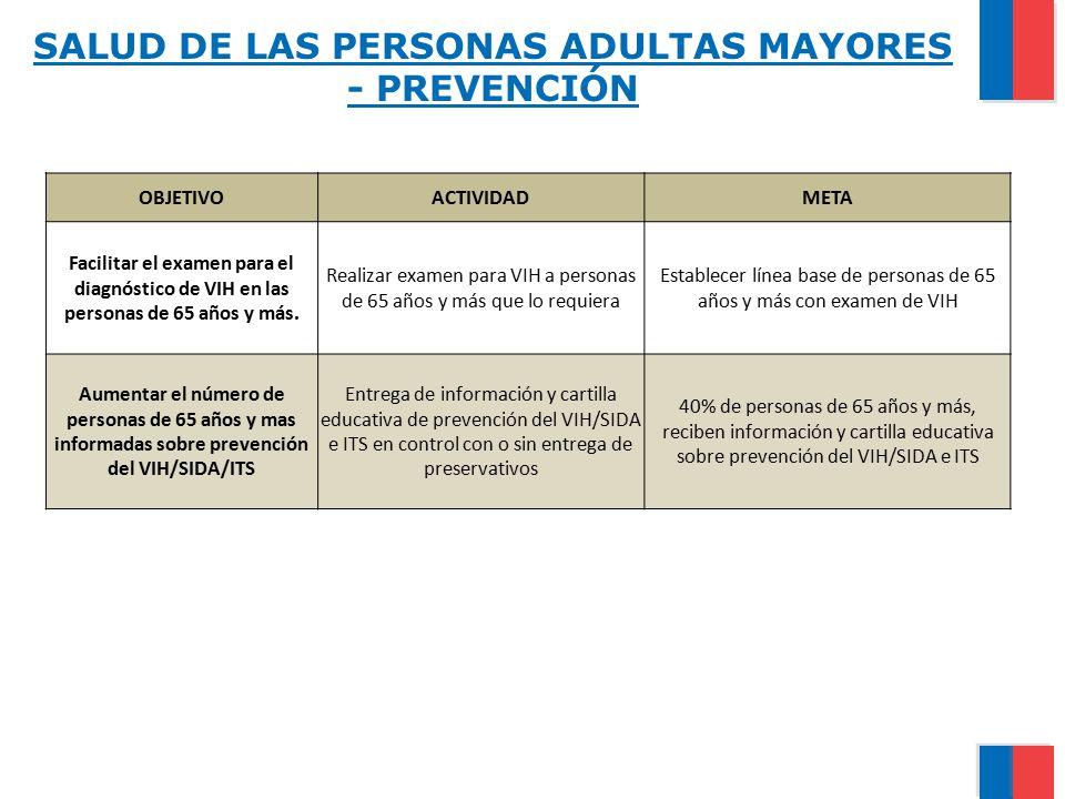 SALUD DE LAS PERSONAS ADULTAS MAYORES - PREVENCIÓN