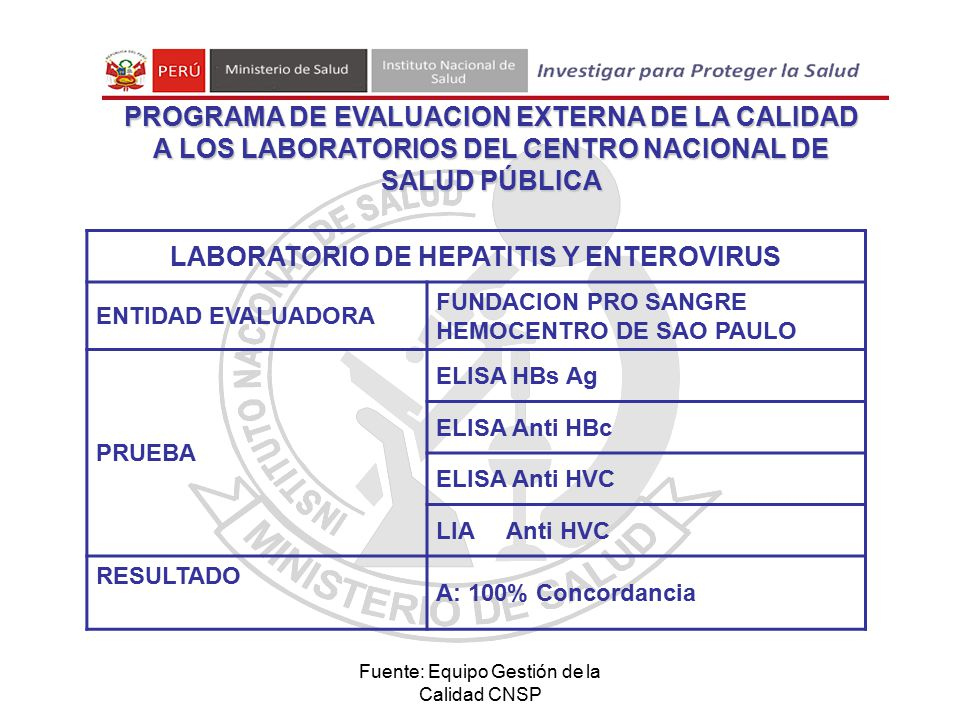 LABORATORIO DE HEPATITIS Y ENTEROVIRUS