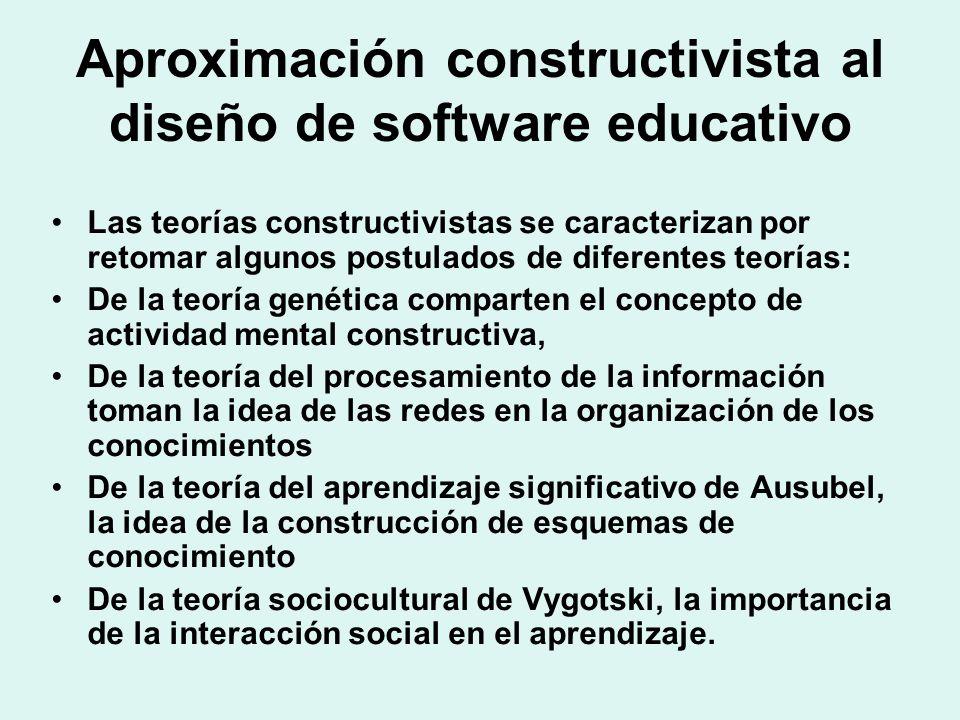 Aproximación constructivista al diseño de software educativo