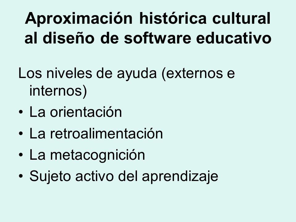 Aproximación histórica cultural al diseño de software educativo