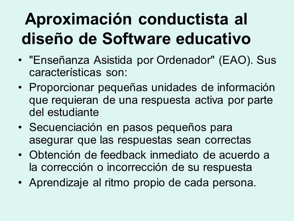Aproximación conductista al diseño de Software educativo