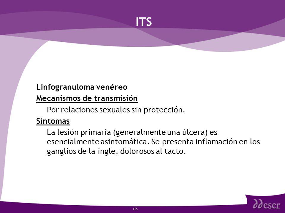 ITS Linfogranuloma venéreo Mecanismos de transmisión