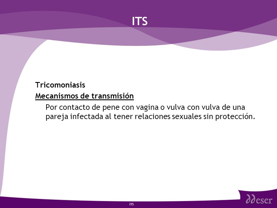 ITS Tricomoniasis Mecanismos de transmisión