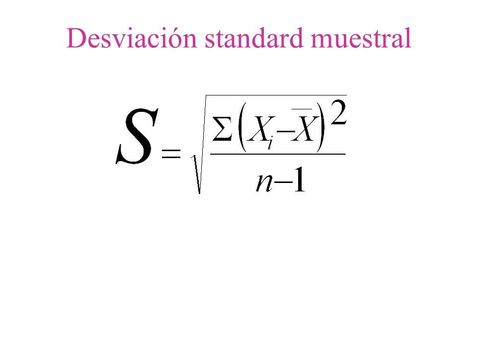 Desviación standard muestral