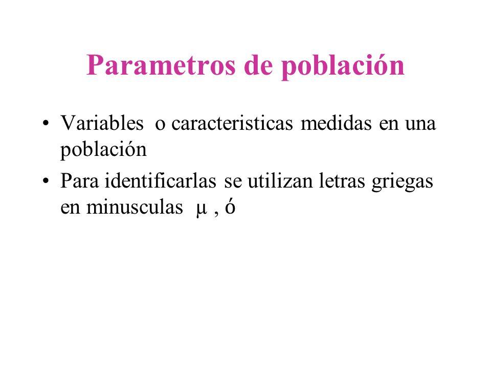 Parametros de población