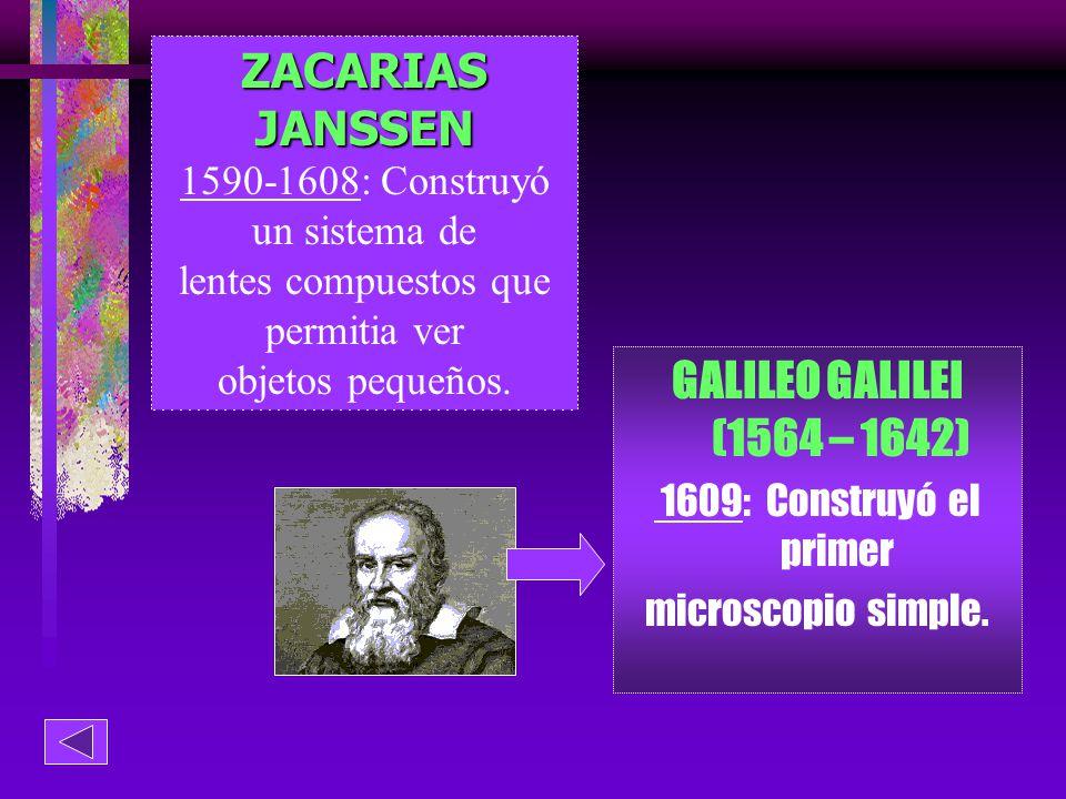 ZACARIAS JANSSEN GALILEO GALILEI (1564 – 1642)