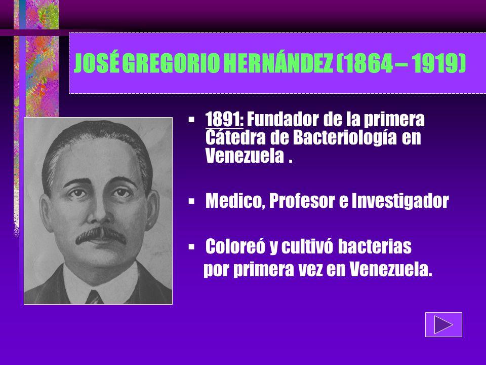 JOSÉ GREGORIO HERNÁNDEZ (1864 – 1919)