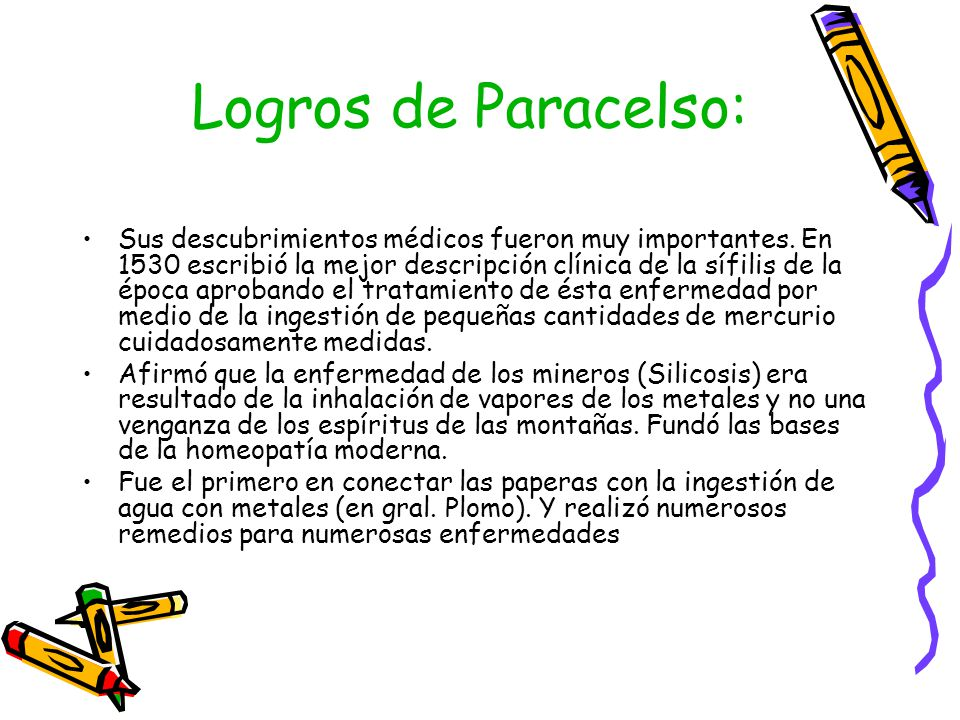 Logros de Paracelso:
