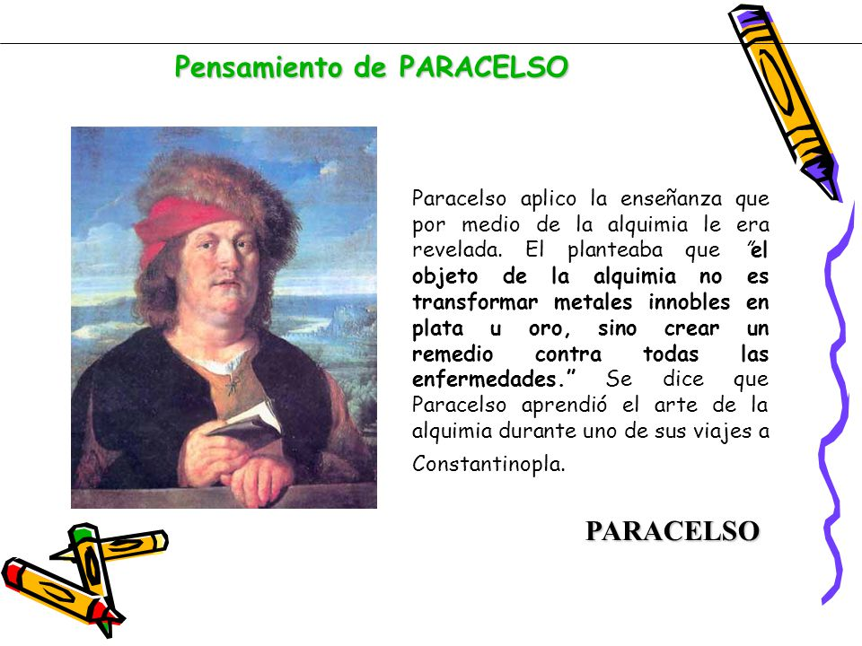 Pensamiento de PARACELSO