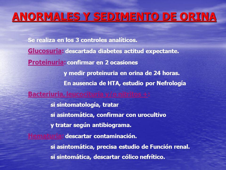 ANORMALES Y SEDIMENTO DE ORINA