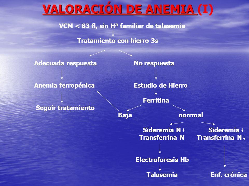VALORACIÓN DE ANEMIA (I)