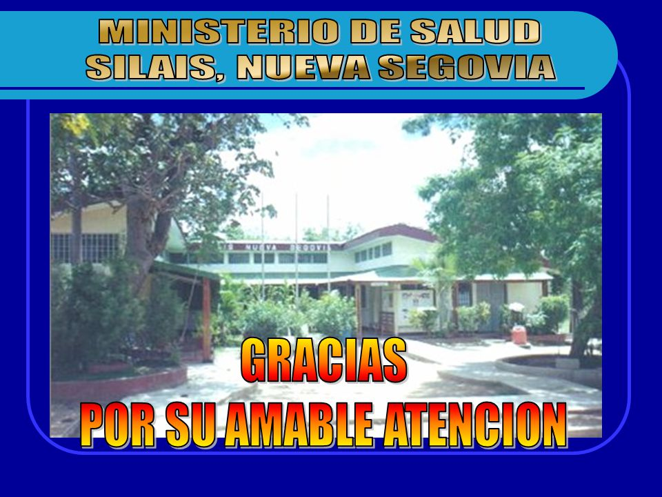 GRACIAS POR SU AMABLE ATENCION MINISTERIO DE SALUD