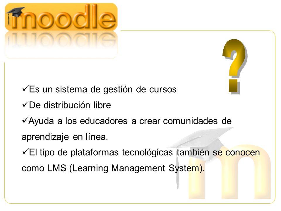 Es un sistema de gestión de cursos De distribución libre
