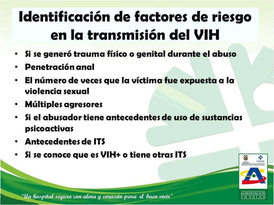 Identificación de factores de riesgo en la transmisión del VIH