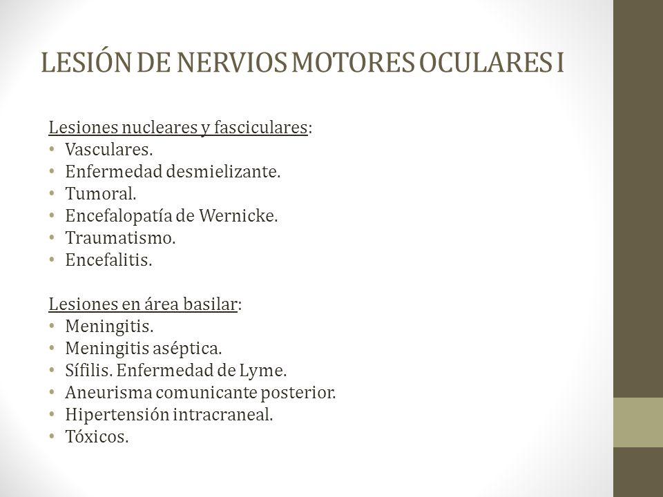 LESIÓN DE NERVIOS MOTORES OCULARES I