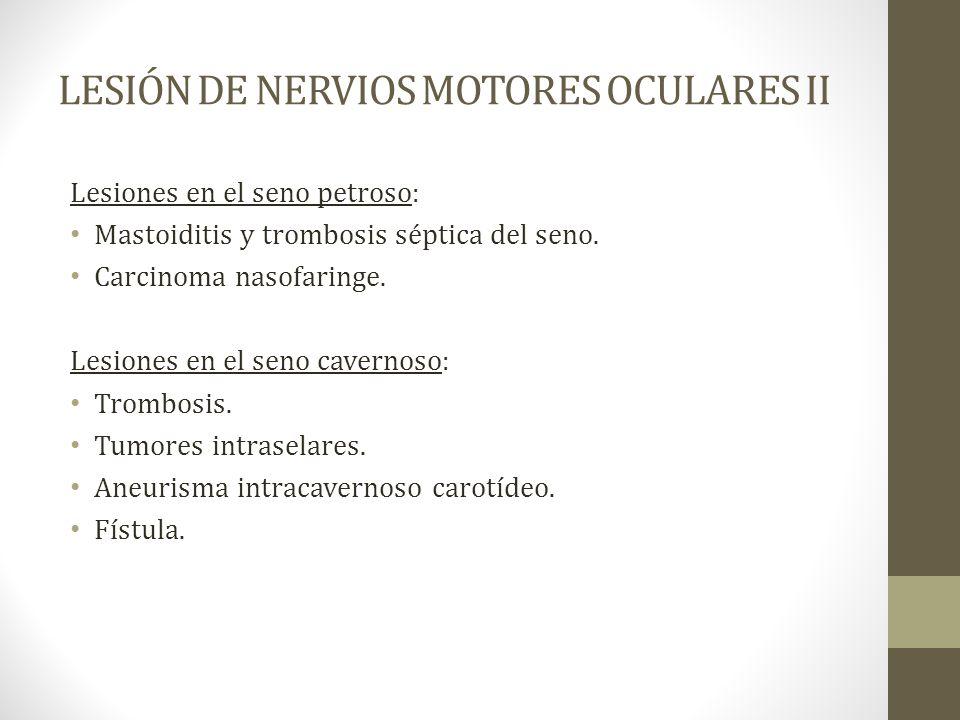 LESIÓN DE NERVIOS MOTORES OCULARES II