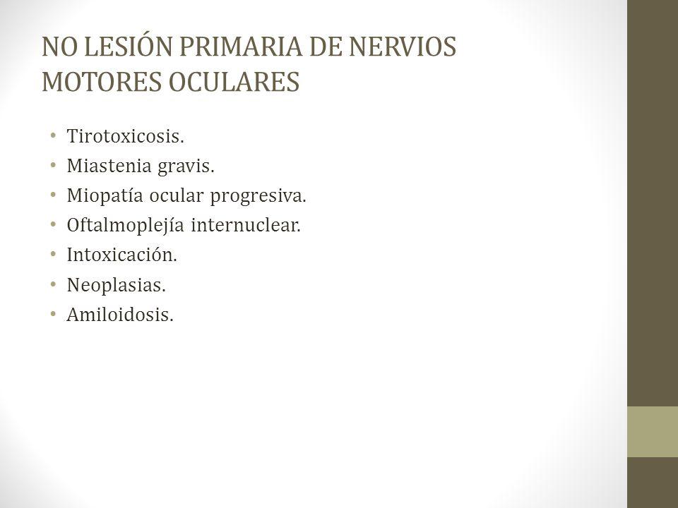 NO LESIÓN PRIMARIA DE NERVIOS MOTORES OCULARES