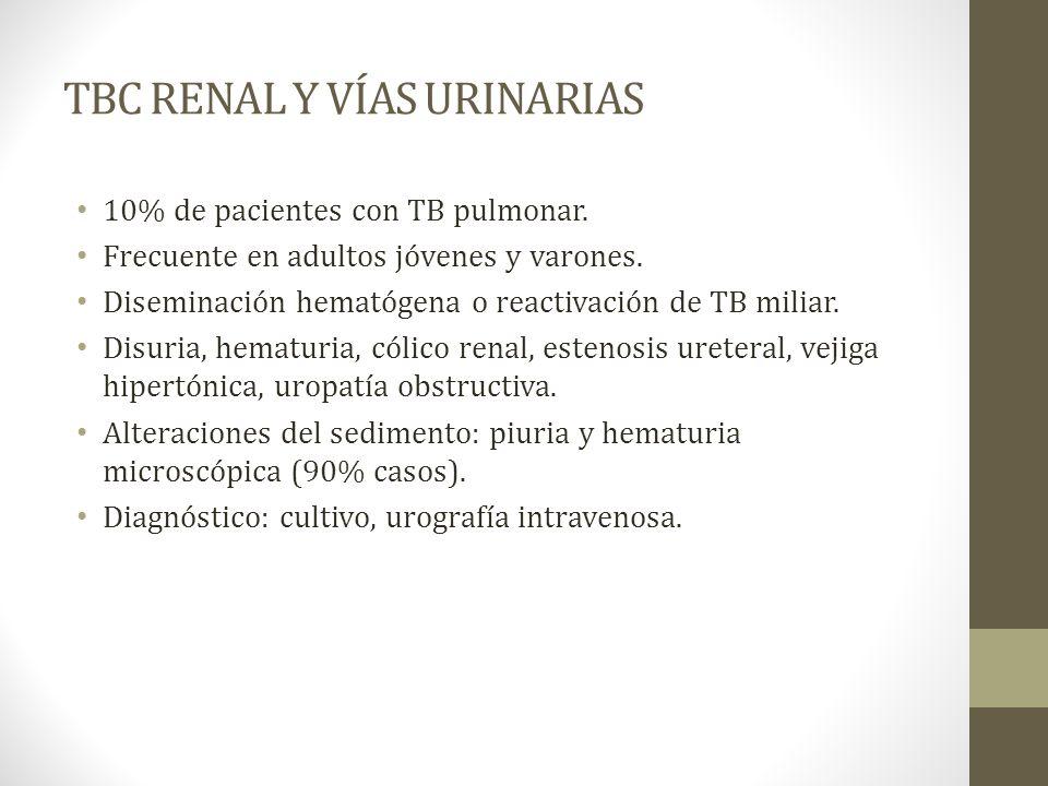TBC RENAL Y VÍAS URINARIAS