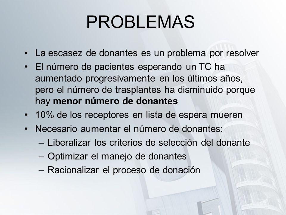 PROBLEMAS La escasez de donantes es un problema por resolver