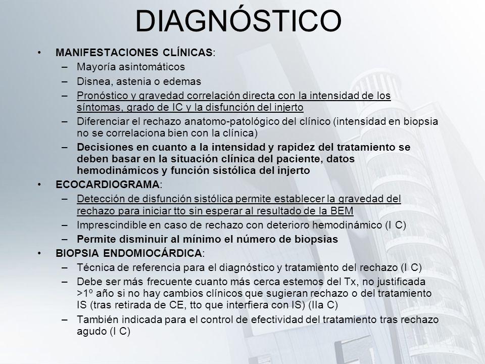 DIAGNÓSTICO MANIFESTACIONES CLÍNICAS: Mayoría asintomáticos