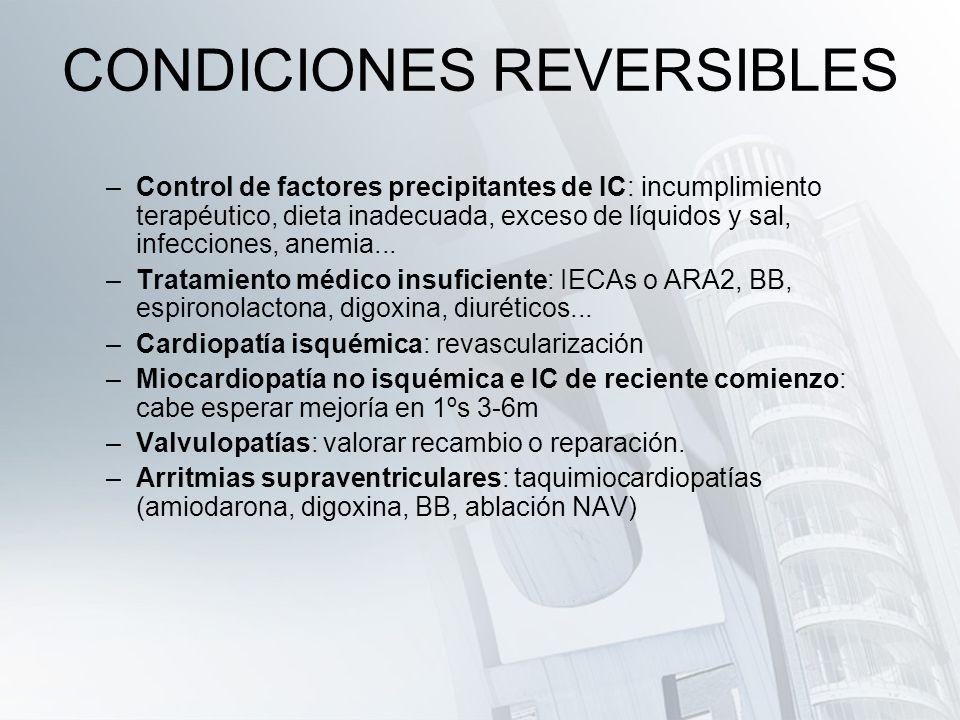 CONDICIONES REVERSIBLES
