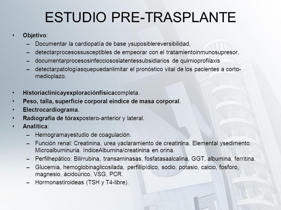ESTUDIO PRE-TRASPLANTE