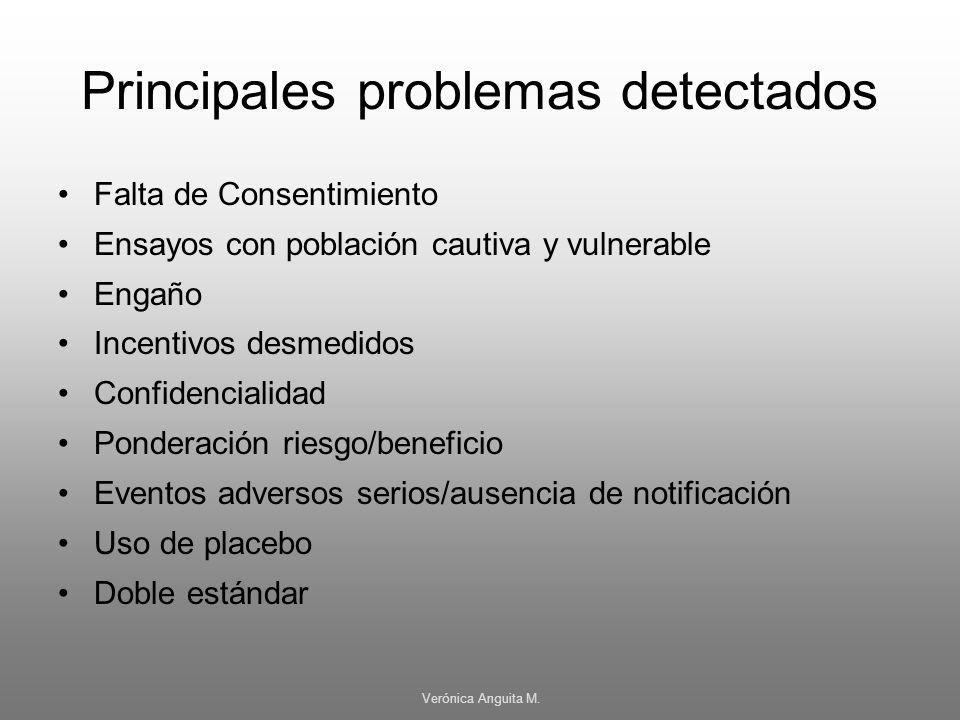 Principales problemas detectados