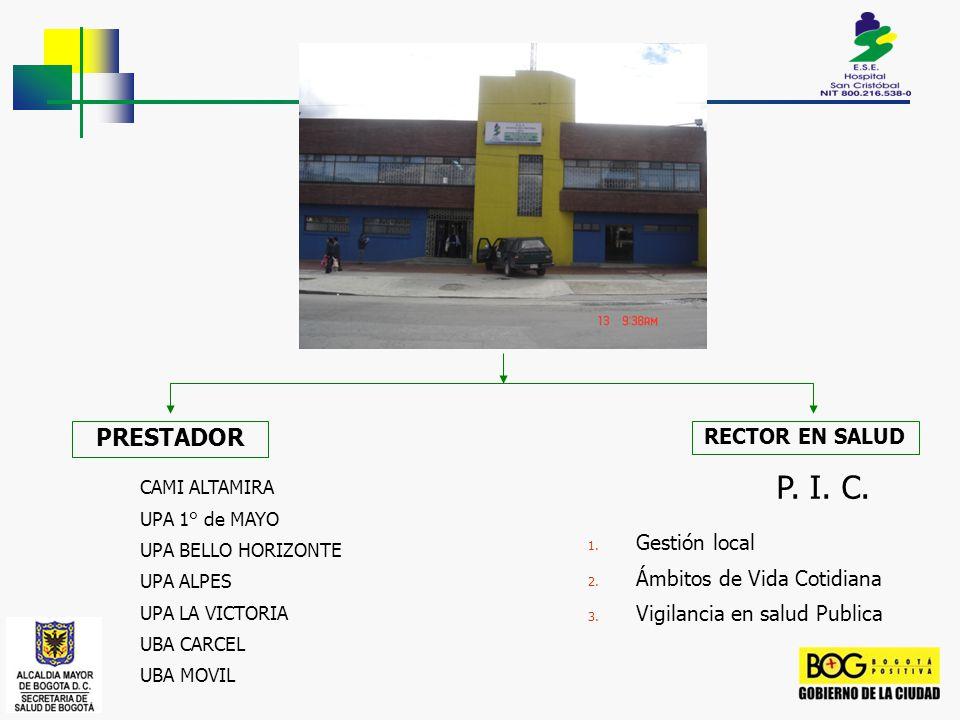 P. I. C. PRESTADOR RECTOR EN SALUD Gestión local