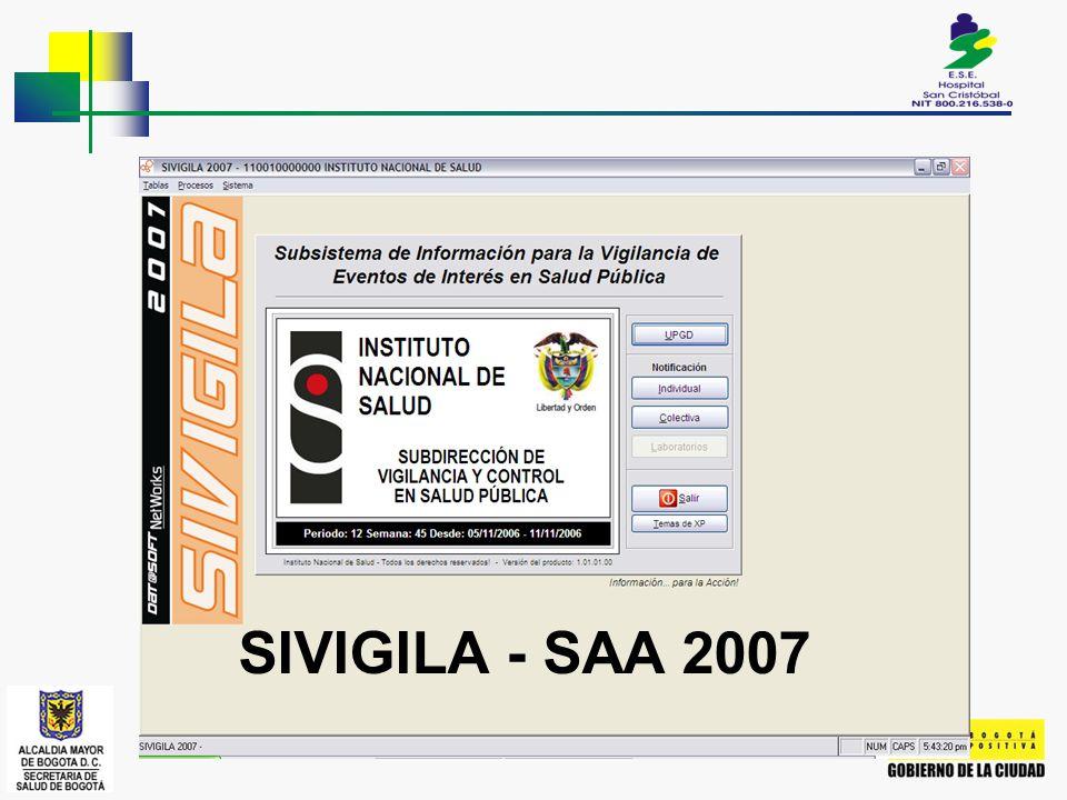 SIVIGILA - SAA 2007