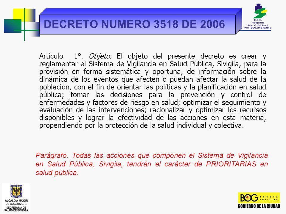 DECRETO NUMERO 3518 DE 2006