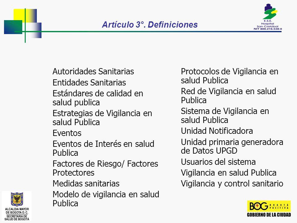 Artículo 3°. Definiciones