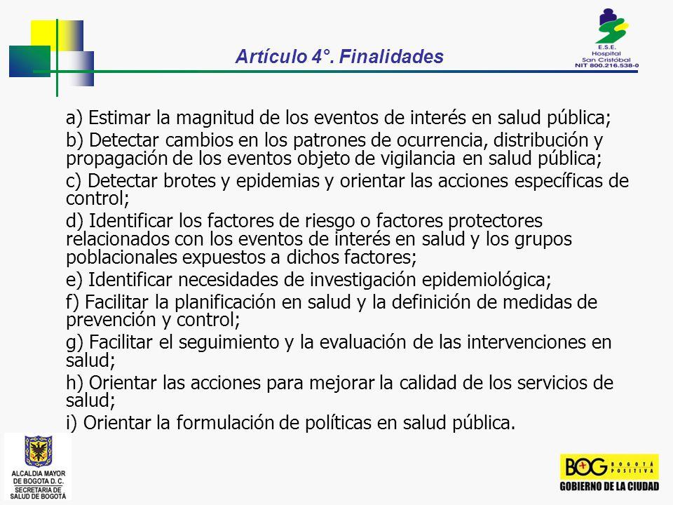 Artículo 4°. Finalidades