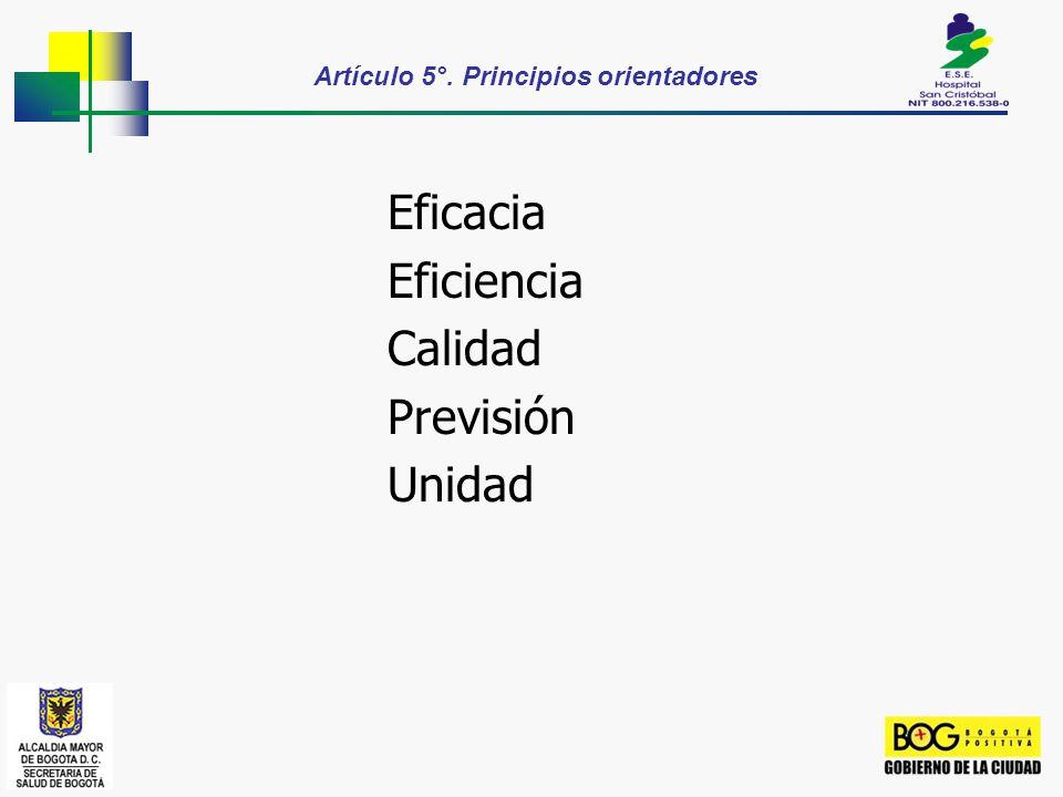 Artículo 5°. Principios orientadores