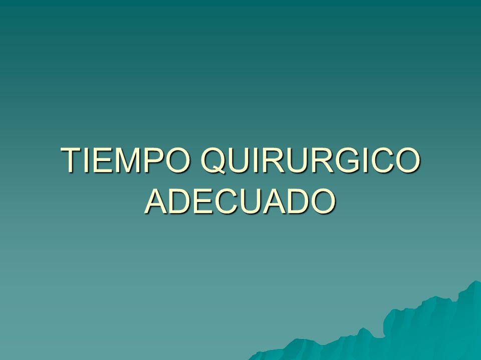 TIEMPO QUIRURGICO ADECUADO