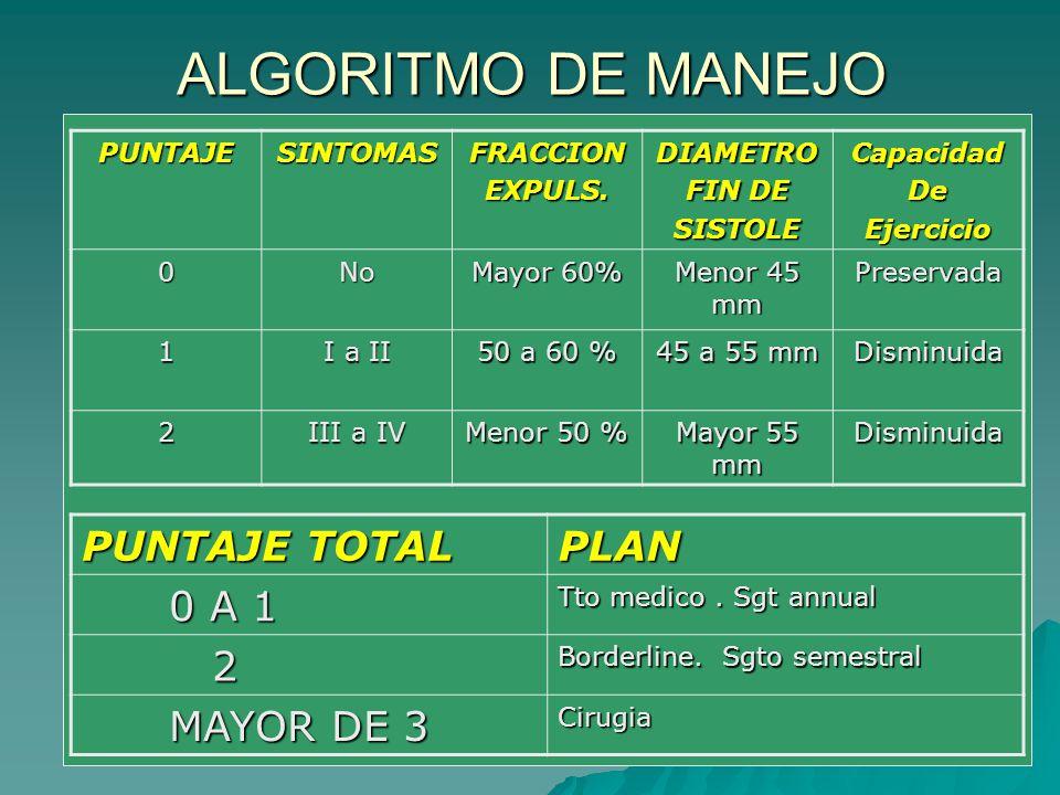 ALGORITMO DE MANEJO PUNTAJE TOTAL PLAN 0 A 1 2 MAYOR DE 3 PUNTAJE